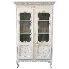Early 19th Century Petite Painted Country French Cupboard