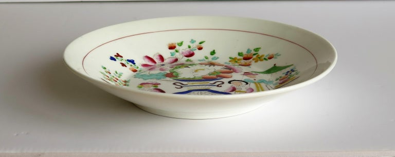 Early 19th Century Plate by Hilditch & Son Staffordshire Oriental Musicians For Sale 3