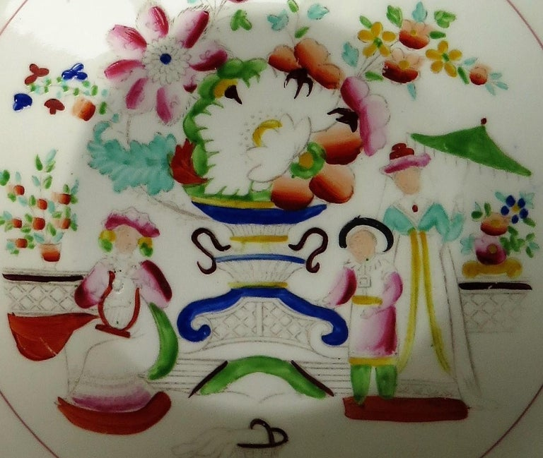 Early 19th Century Plate by Hilditch & Son Staffordshire Oriental Musicians For Sale 6