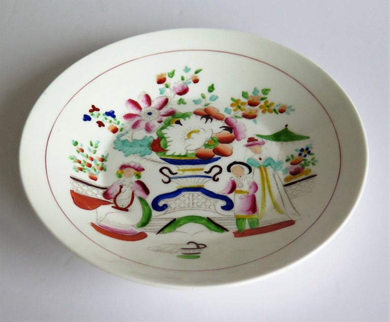 Early 19th Century Plate by Hilditch & Son Staffordshire Oriental Musicians For Sale 1