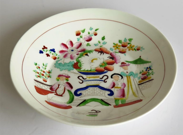 Early 19th Century Plate by Hilditch & Son Staffordshire Oriental Musicians For Sale 2