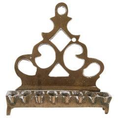 Early 19th Century Polish Brass Hanukkah Lamp Menorah
