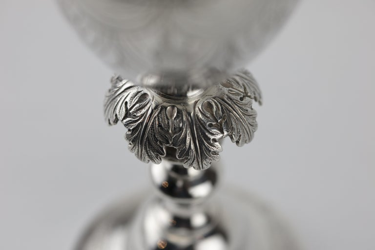 Early 19th Century Polish Silver Kiddus Goblet In Good Condition For Sale In New York, NY