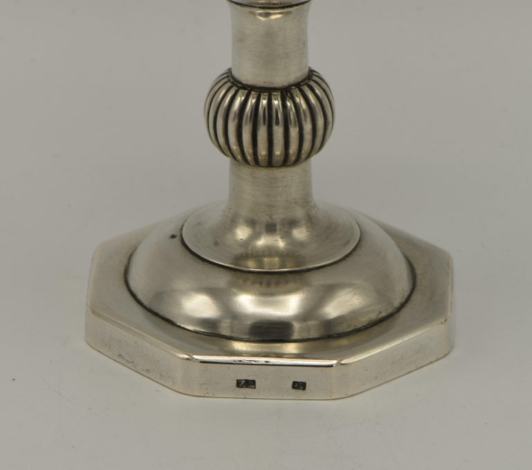 Early 19th Century Polish Silver Kiddush Goblet In Good Condition For Sale In New York, NY