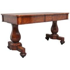 Early 19th Century Pollard Oak Library Table