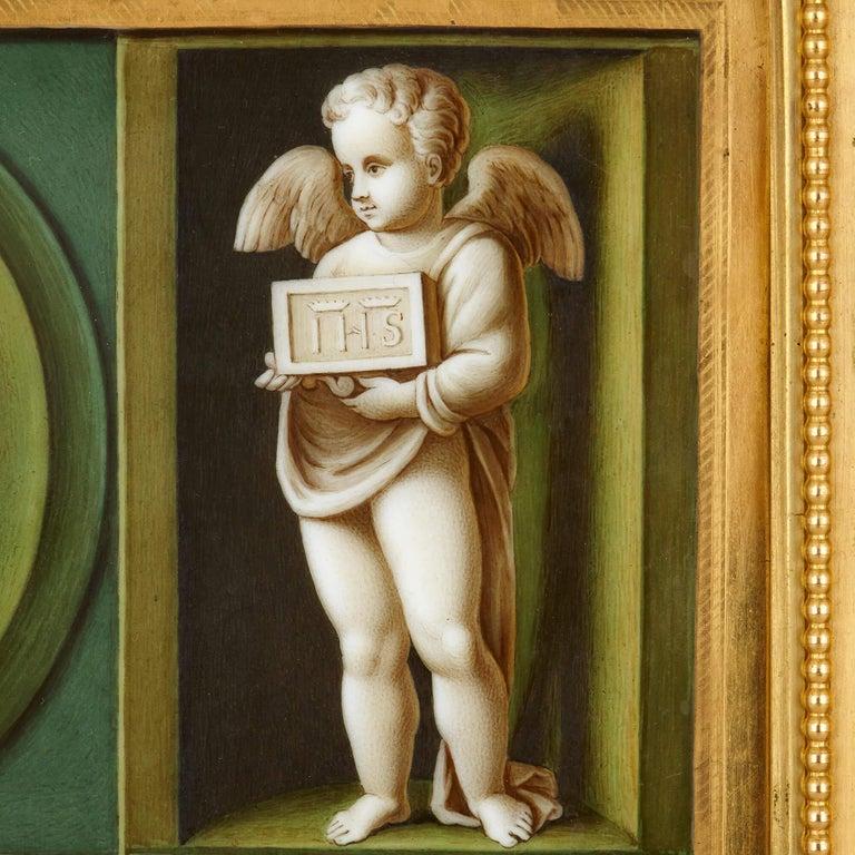 Renaissance Early 19th Century Porcelain Plaque after Raphael For Sale