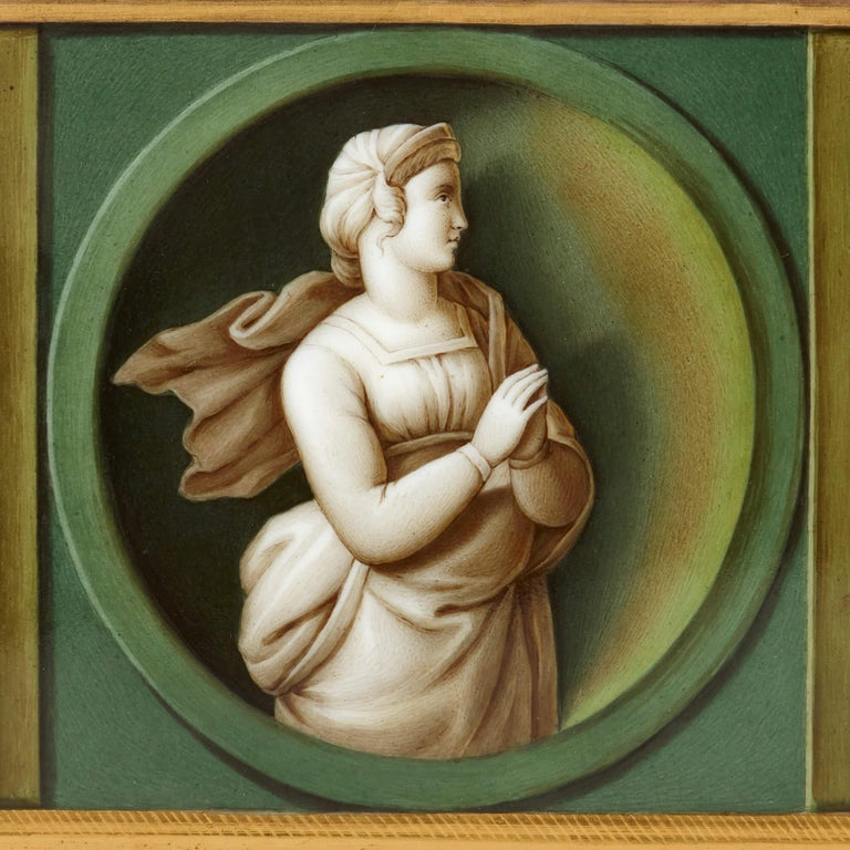 Early 19th Century Porcelain Plaque after Raphael In Excellent Condition For Sale In London, GB