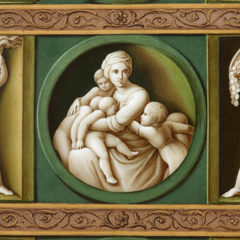 Early 19th Century Porcelain Plaque after Raphael For Sale 1