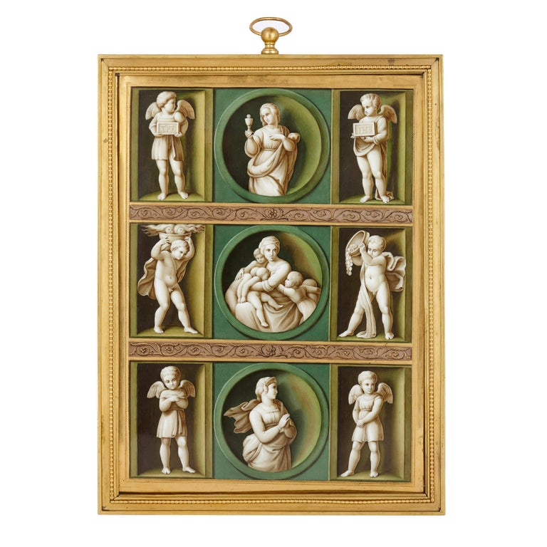 Early 19th Century Porcelain Plaque after Raphael For Sale
