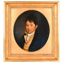 Early 19th Century Portrait of a Gentleman, Oil on Wood Panel