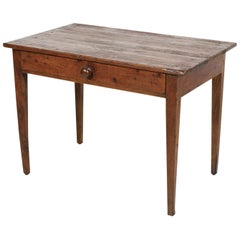 Early 19th Century Primitive French Country Side Table or Work Table