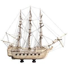 Early 19th Century Prisoner of War Bone Model Ship