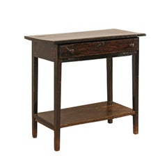Early 19th Century Rectangular Brazilian Peroba Tropical Dark Wood Side Table