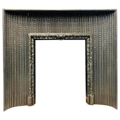 Early 19th Century Regency Acanthus Cast Iron Fireplace Insert