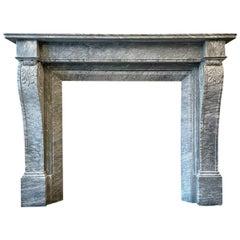 Early 19th Century Regency Bardiglio Marble Fireplace Mantel