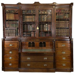 Early 19th Century Regency Breakfront Bookcase