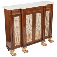 Early 19th Century Regency Breakfront Low Bookcase