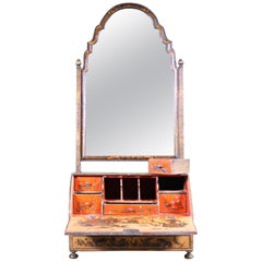 Early 19th Century Regency Country House Chinoiserie Dressing Table Mirror