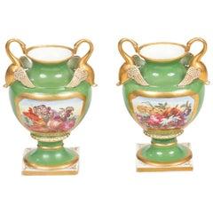 Early 19th Century Regency Derby Pair of Vases