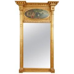 Early 19th Century Regency Giltwood Trumeau Pier Mirror
