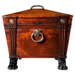 Early 19th Century Regency Greek Revival Mahogany Champagne Cooler
