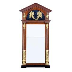 Early 19th Century Regency Mahogany and Gilt Swedish Mirror