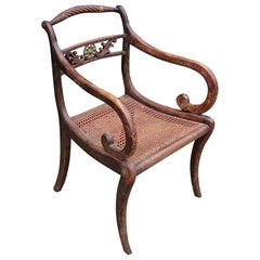 Early 19th Century Regency Mahogany Antique Armchair