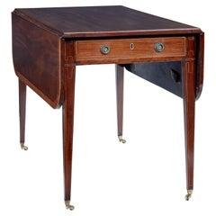 Early 19th Century Regency Mahogany Cross Banded Pembroke Table