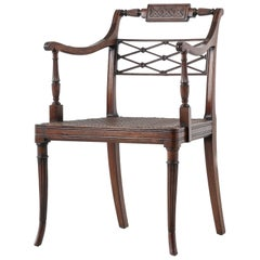 Early 19th Century Regency Mahogany Desk Chair