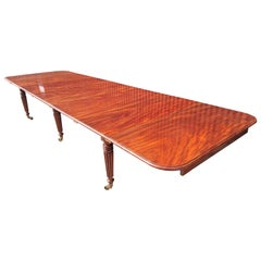 Early 19th Century Regency Mahogany Extending Dining Table Attributed to Gillows