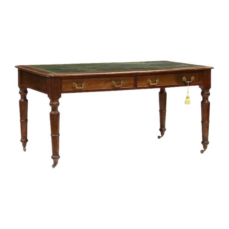 Early 19th Century Regency Mahogany Partner's Writing Desk