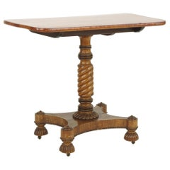Early 19th Century Regency Mahogany Table with Rosewood Banding, Great Color