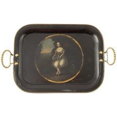 Early 19th Century Regency Metal Serving or Drinks Tray