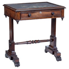 Early 19th Century Regency Palisander Painted Slate Top Side Table