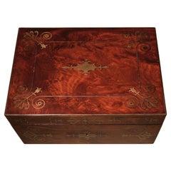 Early 19th Century Regency Period Mahogany Stationary Box