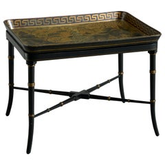 Early 19th Century Regency Period Papier Mâché Chinoiserie Tray Table