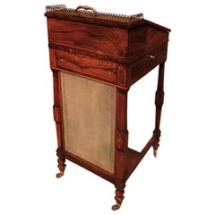 Early 19th Century Regency Period Rosewood Davenport, Boxwood Strung
