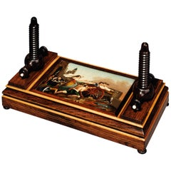 Early 19th Century Regency Period Rosewood & Painted Flower Press