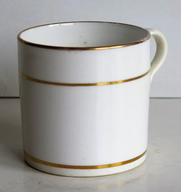 Hand-Painted Early 19th Century Regency Period Spode Porcelain Coffee Can Pattern 341 For Sale