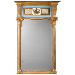 Early 19th Century Regency Period Verre Églomisé Mirror