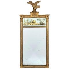 Early 19th Century Regency Period Verre Eglomise Mirror