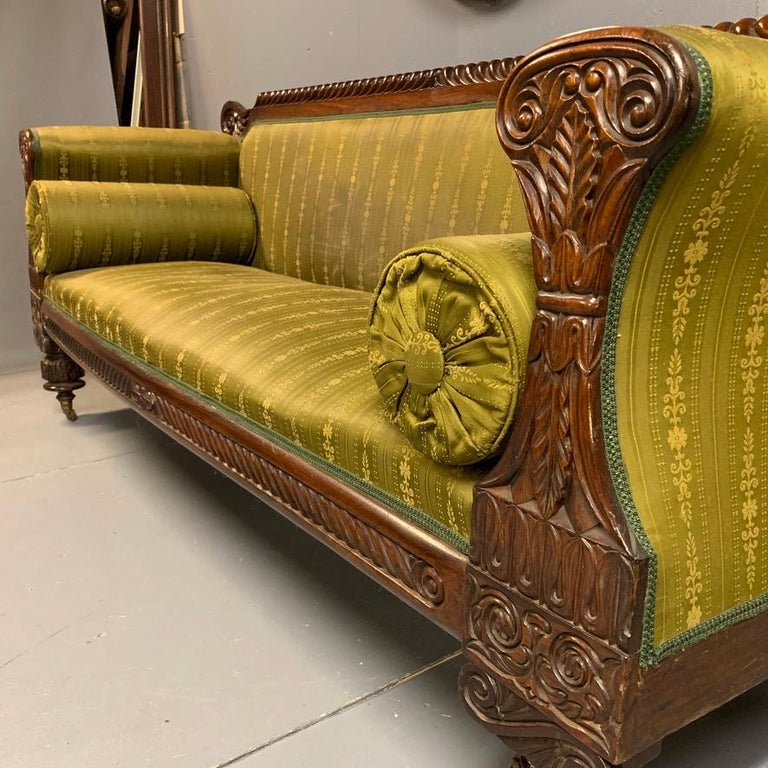 Early 19th Century Regency Rosewood 3-Seat Sofa In Good Condition For Sale In Uppingham, Rutland