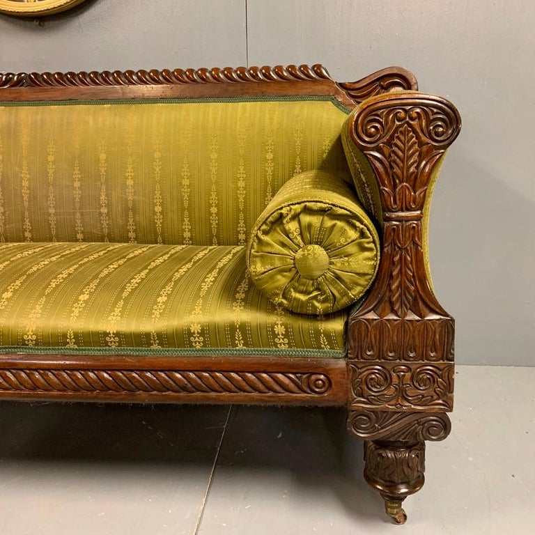 Early 19th Century Regency Rosewood 3-Seat Sofa For Sale 1