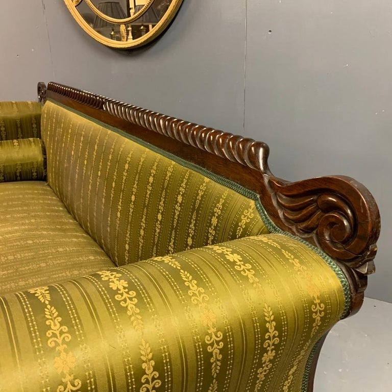 Early 19th Century Regency Rosewood 3-Seat Sofa For Sale 2