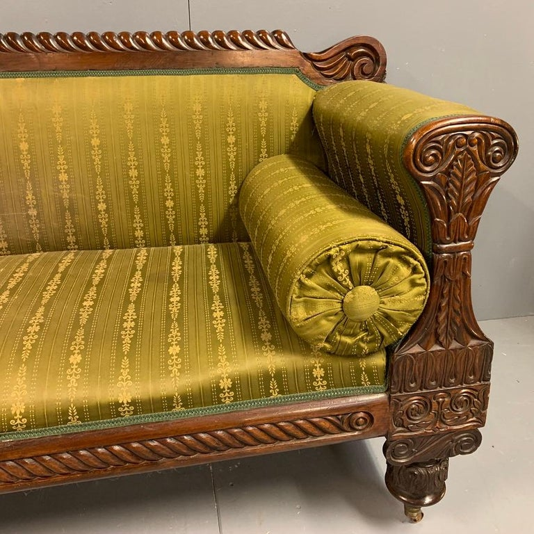 Early 19th Century Regency Rosewood 3-Seat Sofa For Sale 3