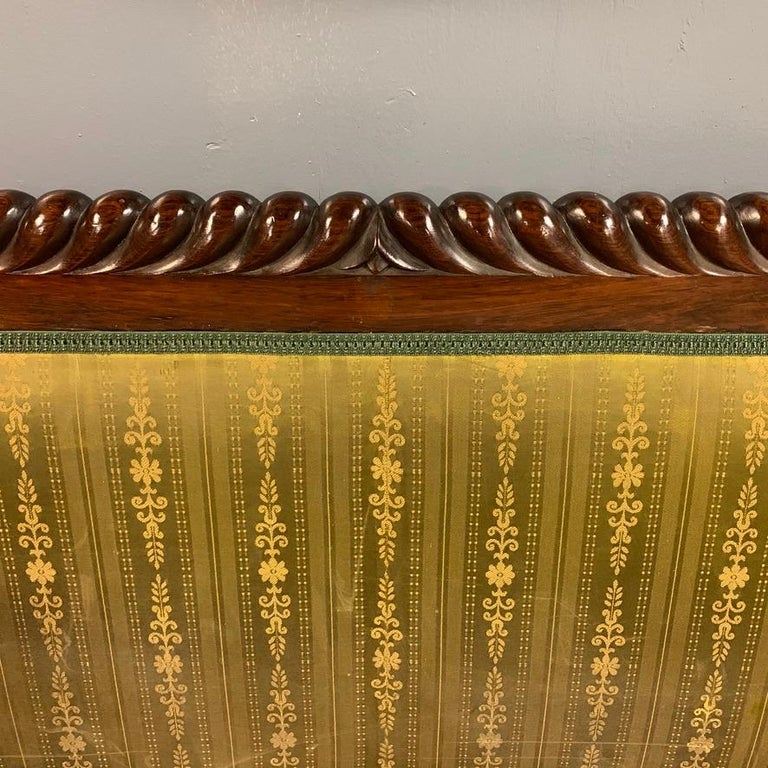 Early 19th Century Regency Rosewood 3-Seat Sofa For Sale 4