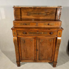 Early 19th Century Regency Rosewood and Brass Inlaid Chiffonier