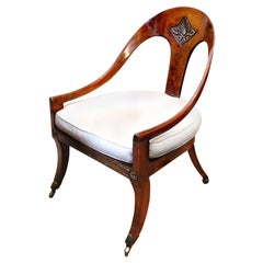 Early 19th Century Regency Rosewood Roman Spoon Chair