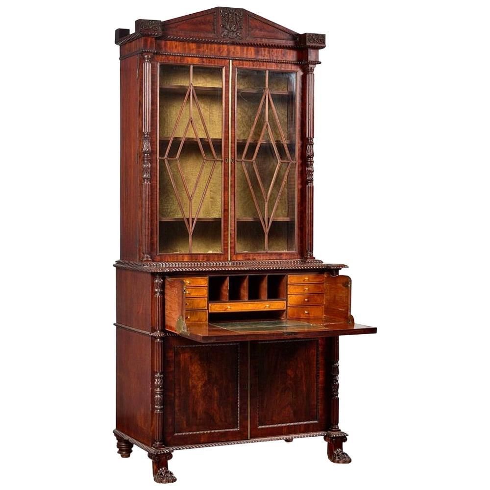 Early 19th Century Regency Secretary Bookcase