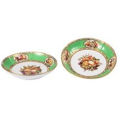 Early 19th Century Regency Spode Pair of Porcelain Dessert Dishes